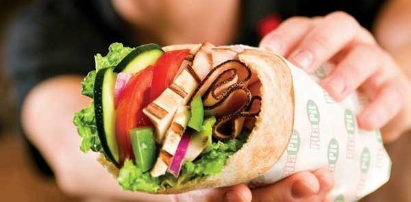 The Pita Pit wrap is just one of their many awesome offerings.