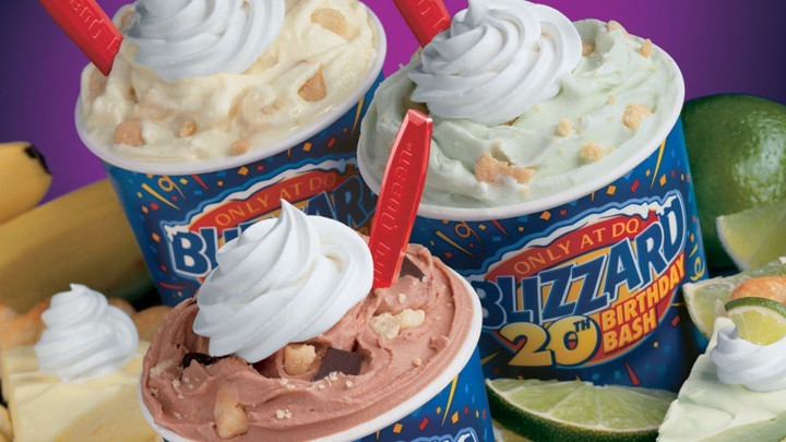 The Dairy Queen blizzard is just one of their many awesome offerings.