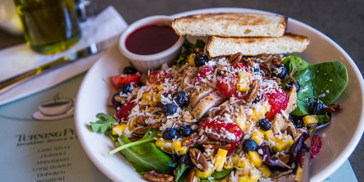 Delectable salad for breakfast, as seen at Turning Point fundraisers