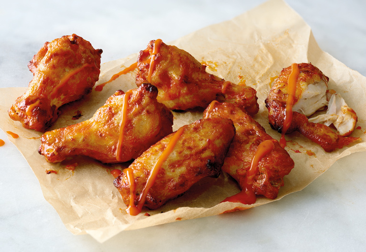 The Papa John's wings are a must-try.