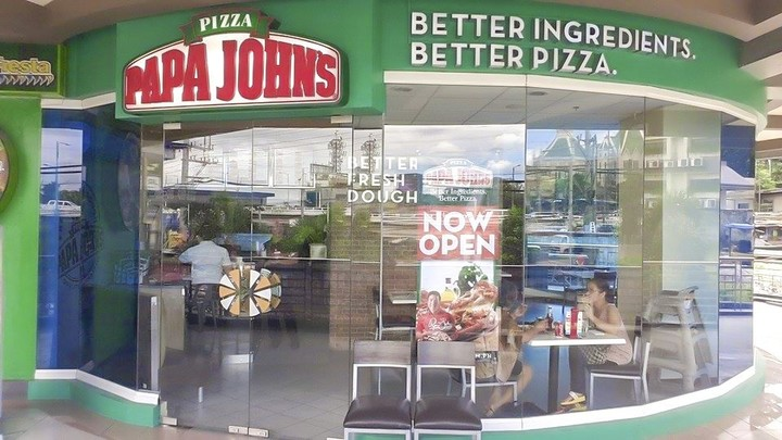 Papa John's restaurant at daytime from outside, where you can hold Papa John's fundraisers