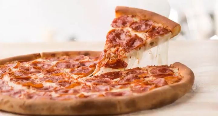 Pepperoni pizza, served at Papa John's fundraisers