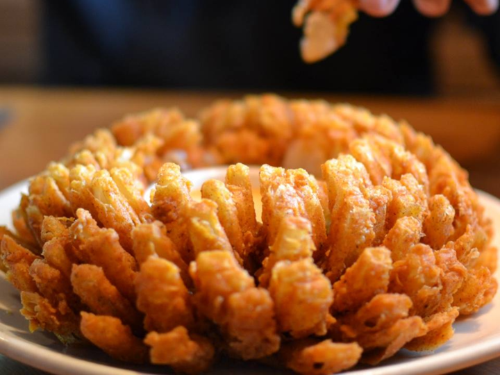 The Outback Steakhouse bloomin onion is a must-try.