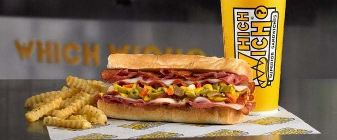 A sandwich rich in flavor, found at Which Wich fundraisers