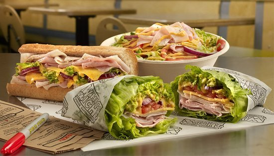 The Which Wich lettucewich is a must-try.