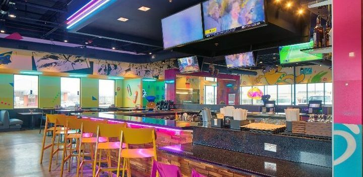 Interior of a Mellow Mushroom restaurant, where you can enjoy Mellow Mushroom fundraisers
