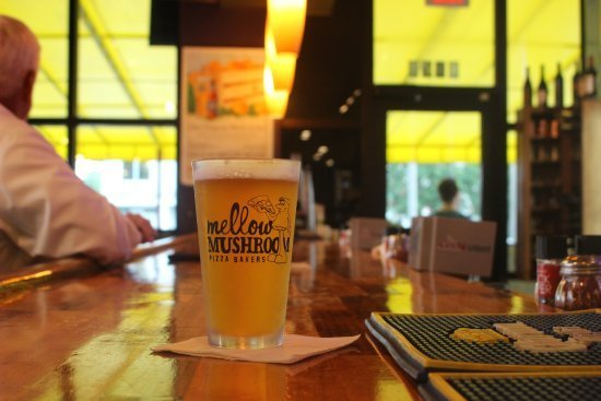 Cold and strong beer, served at Mellow Mushroom fundraisers