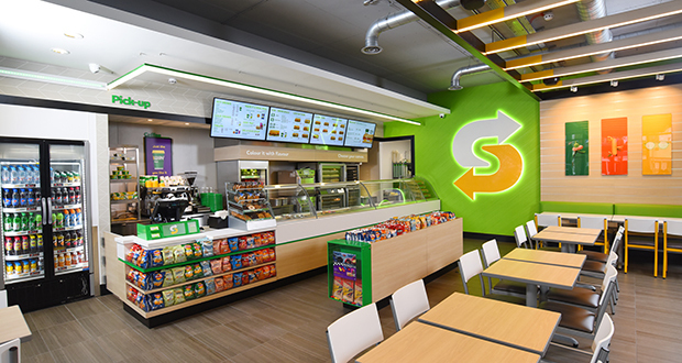 Interior view of a Subway location, where Subway fundraisers happen