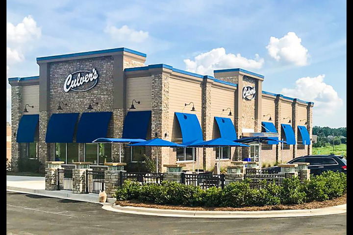 Exterior of a Culver's restaurant at daytime, where there are soon to be Culver's fundraisers