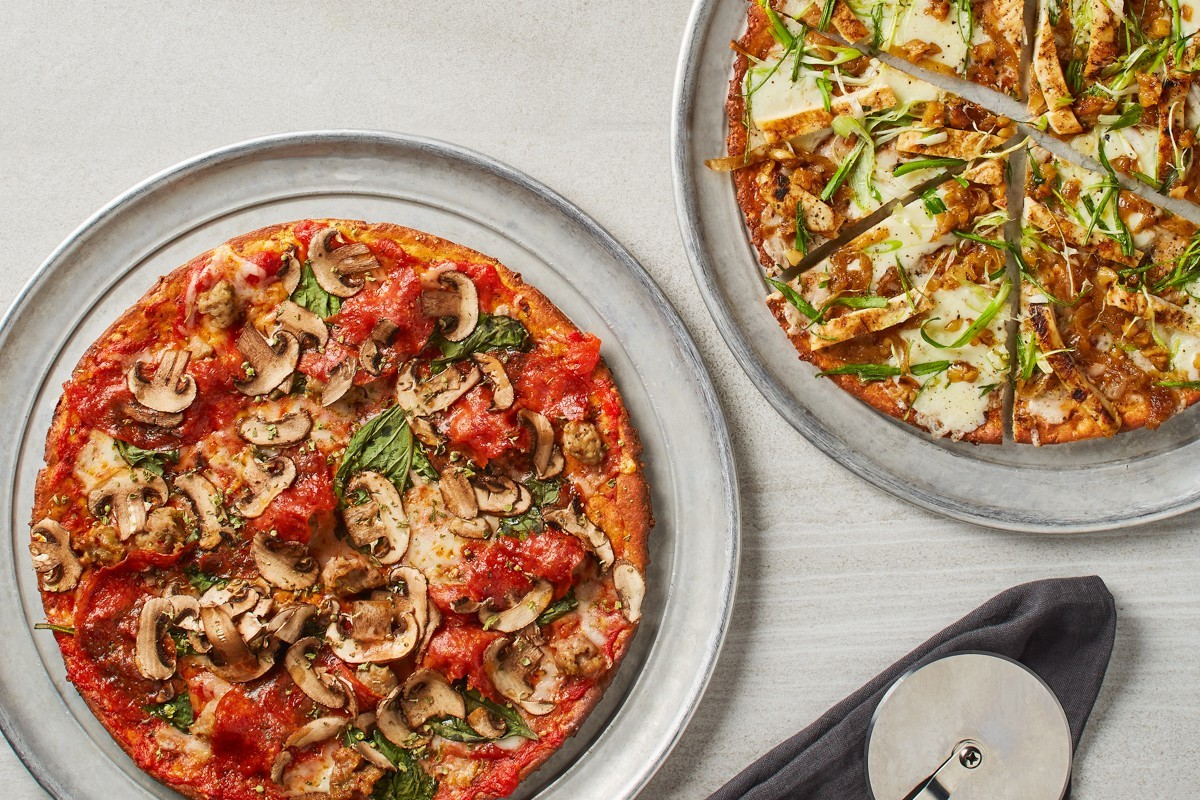 Customers love the California Pizza Kitchen cauliflower crust option- healthy and delicious!