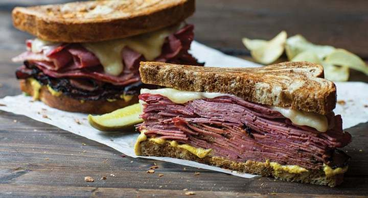 Savory McAlister's Deli reuben, available at McAlister's Deli fundraisers