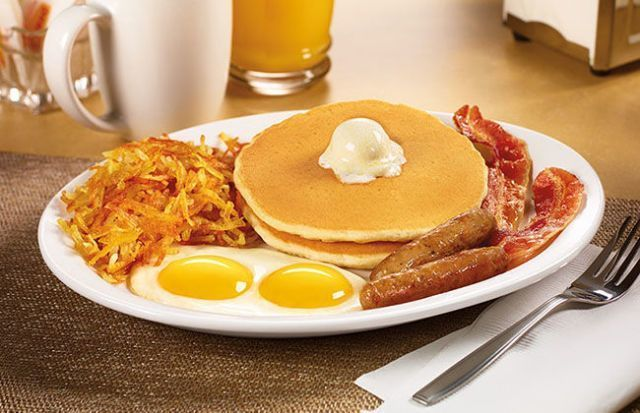 The Denny's grand slam is just one of their many awesome offerings.