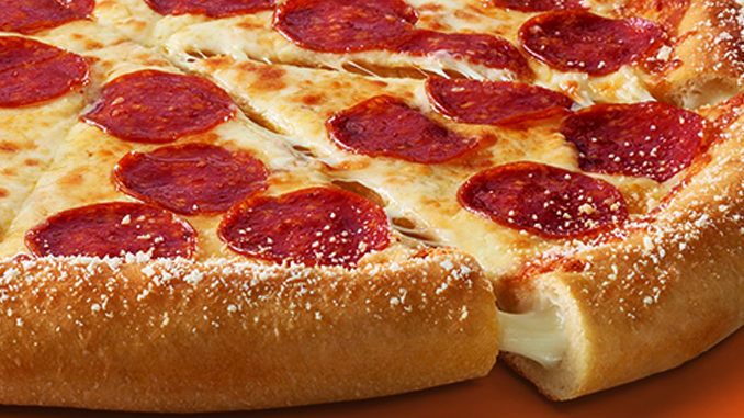 Cheesy crust pizza, available at Little Caesars Pizza fundraisers