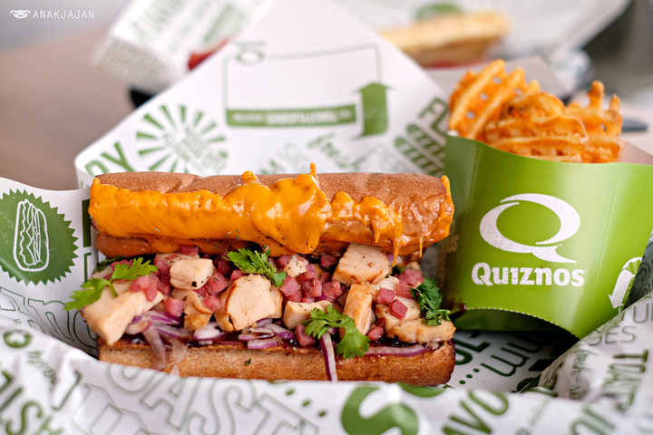 The Quiznos subs are just one of their many awesome offerings.