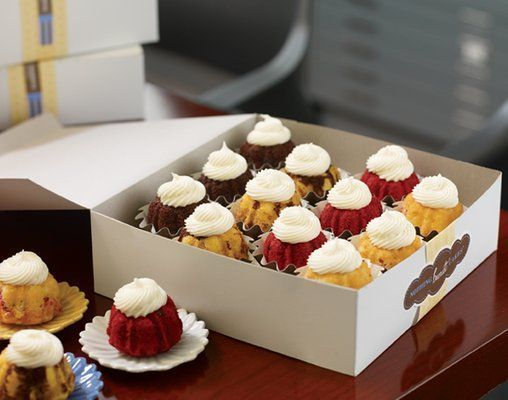 12 pieces of delicious cup cakes, served at Nothing Bundt Cakes fundraisers