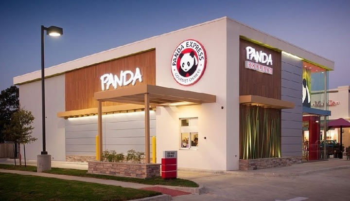 Panda Express location as seen from outside, where Panda Express fundraisers happen