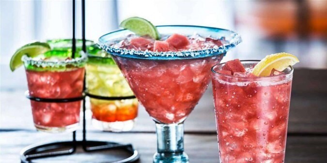 Four fruity drinks, served at Chili's fundraisers