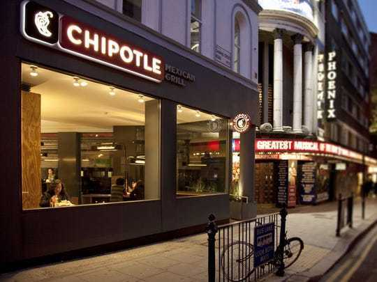 View of a Chipotle location from outside, where Chipotle fundraisers are sure to happen