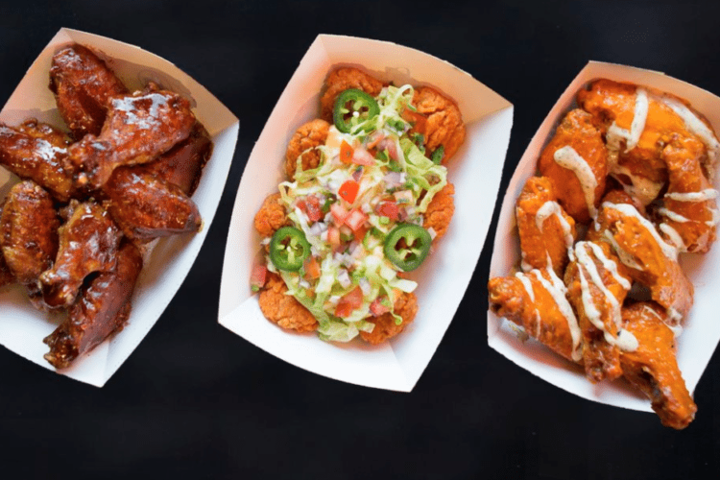 Chicken wings on 3 different flavors, served at Buffalo Wild Wings fundraisers