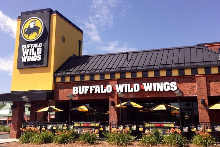 Buffalo Wild Wings location from outside, where Buffalo Wild Wings fundraisers are sure to happen