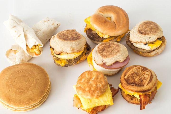 Breakfast treats, available at McDonald's fundraisers