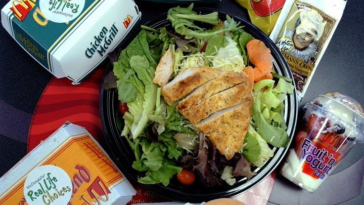 Healthy chicken salad, served at McDonald's fundraisers