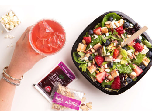 Mouth watering salad with a simple dressing, served at Wendy's fundraisers