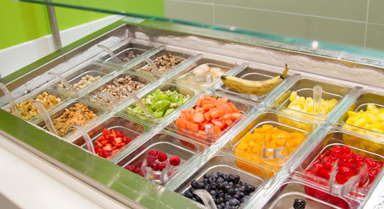 The Yogurtland toppings are a must-try.