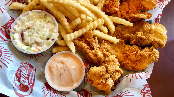 The Raising Cane's chicken is just one of their many awesome offerings.