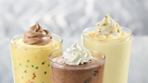 3 refreshing milkshakes, as seen at Zaxby's fundraisers