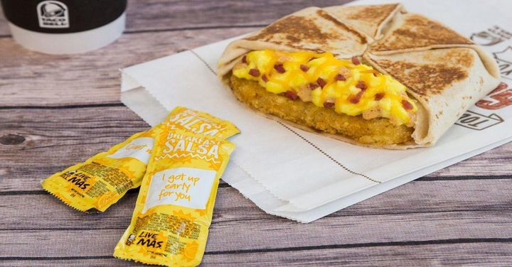 The Taco Bell breakfast is a must-try.