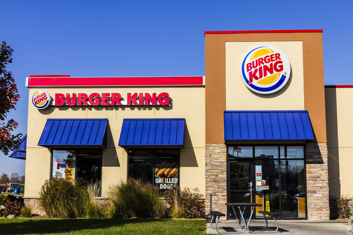 Exterior of a Burger King location during the day, where you can enjoy Burger King fundraisers