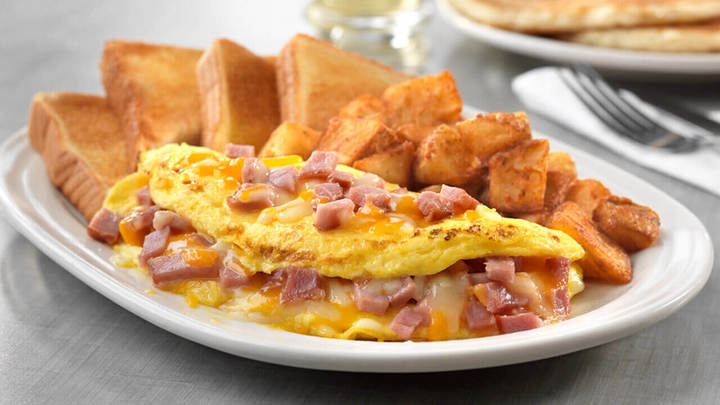 A must try breakfast egg omelette and toast, found at Friendly's fundraisers