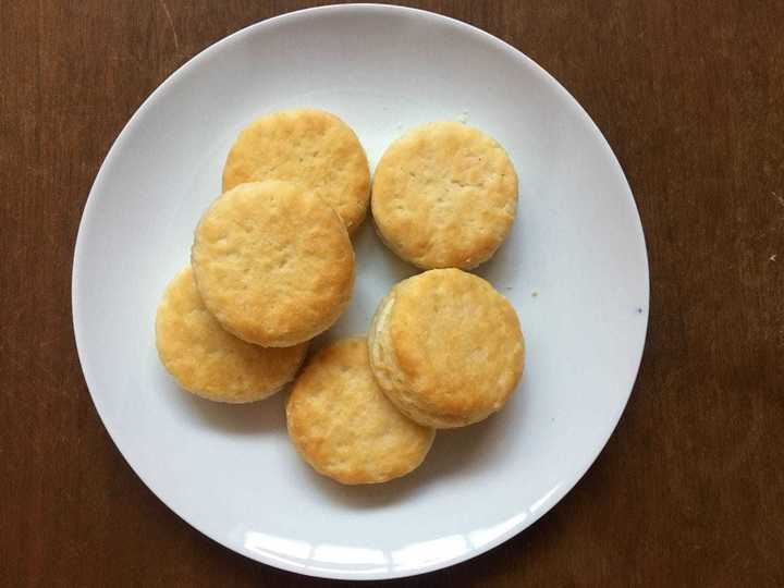 Freshly baked biscuits, as seen at Popeyes house fundraisers