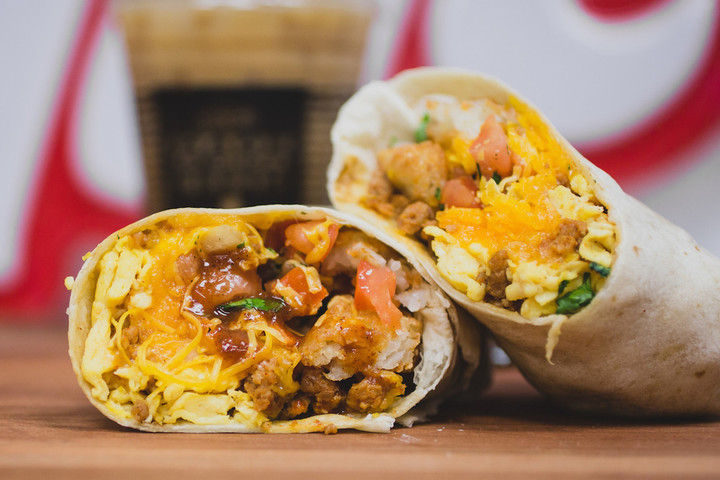 2 flavorsome tacos, available at Del Taco fundraisers