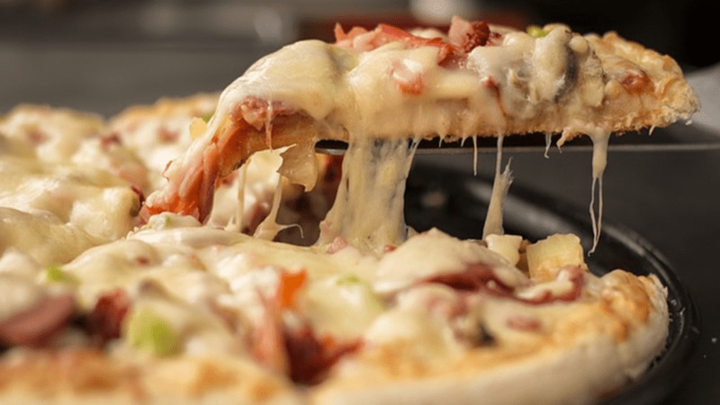Toppers Pizza buffalo chicken is a must-try.