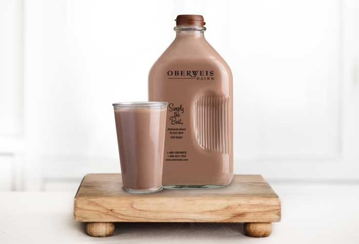 Lip-smacking chocolate milk drink, available at Oberweis fundraisers