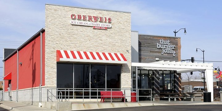 An Oberweis location during the day, where people can enjoy Oberweis fundraisers
